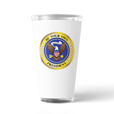 The Late Show with Stephen Colbert Be Your Own President 17 oz Pint Glass | Official CBS Entertainment Store