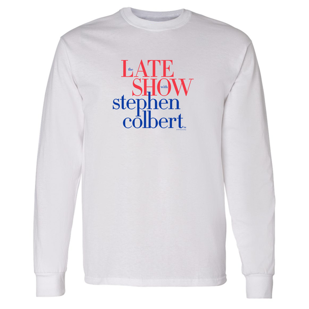 The Late Show with Stephen Colbert Adult Long Sleeve T-Shirt