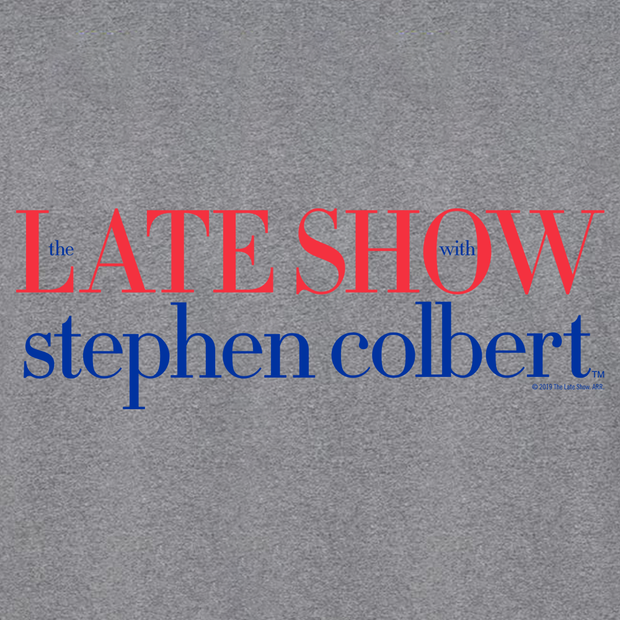 The Late Show with Stephen Colbert logo Adult Long Sleeve T-Shirt