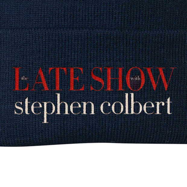 The Late Show with Stephen Colbert Logo Embroidered Knit Beanie | Official CBS Entertainment Store