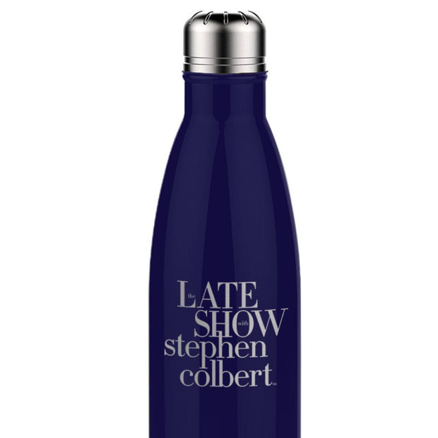 The Late Show with Stephen Colbert Logo 17 oz Stainless Steel Slim Water Bottle | Official CBS Entertainment Store