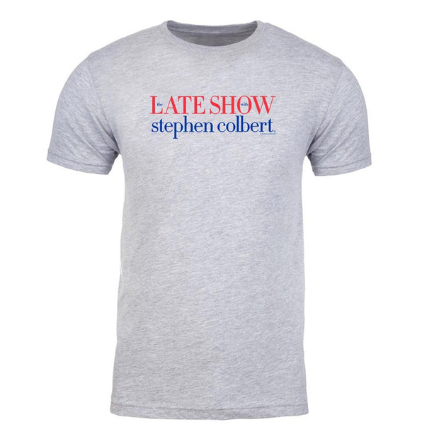 The Late Show with Stephn Colbert Logo Adult Short Sleeve T-Shirt
