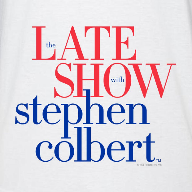 The Late Show with Stephn Colbert Logo 3/4 Sleeve Baseball T-Shirt