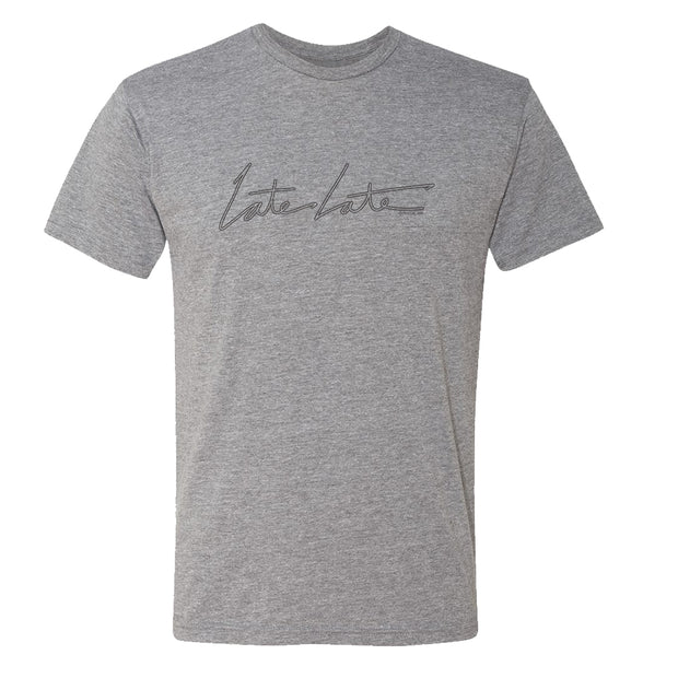 The Late Late Show with James Corden Late Late Men's Tri-Blend T-Shirt | Official CBS Entertainment Store