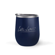 The Late Late Show with James Corden Late Late 12 oz Stainless Steel Wine Tumbler with Straw | Official CBS Entertainment Store