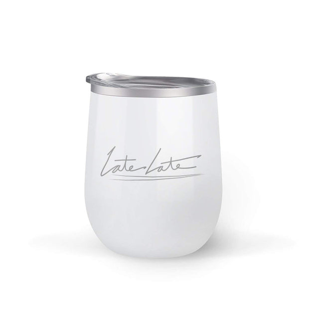 The Late Late Show with James Corden Late Late 12 oz Stainless Steel Wine Tumbler with Straw