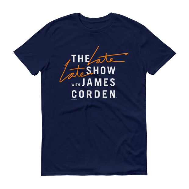 The Late Late Show with James Corden Logo Adult Short Sleeve T-Shirt | Official CBS Entertainment Store