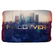 MacGyver Cityscape Sherpa Blanket