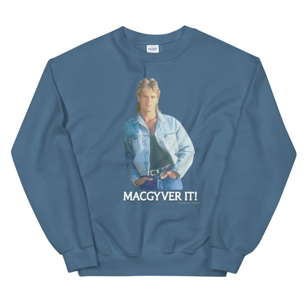 MacGyver Original Series MacGyver It! Character Design Fleece Crewneck Sweatshirt