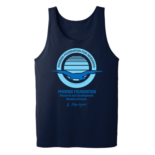 MacGyver Original Series Phoenix Foundation Design Adult Tank Top