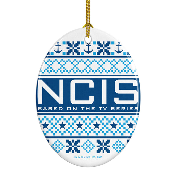 NCIS Holiday Oval Ceramic Ornament | Official CBS Entertainment Store