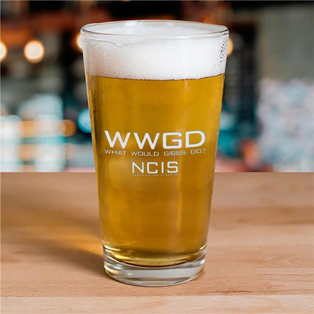 NCIS WWGD Laser Engraved Pilsner Glass