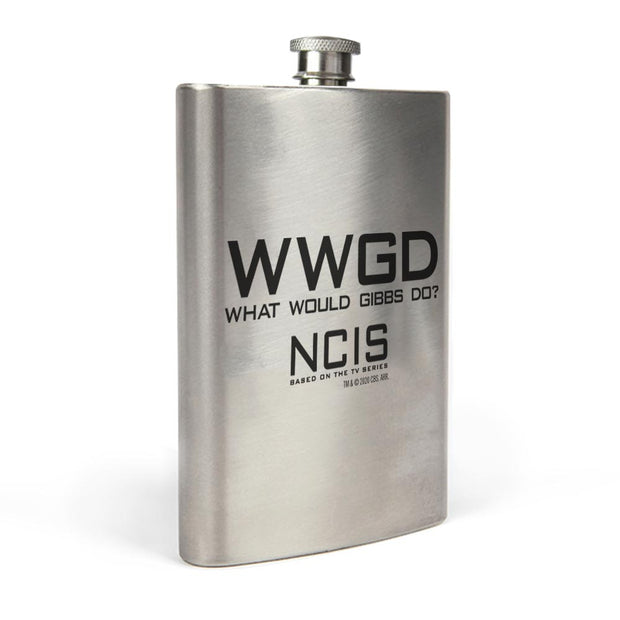 NCIS WWGD Stainless Steel Flask | Official CBS Entertainment Store