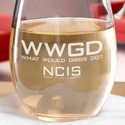 NCIS WWGD Laser Engraved Stemless Wine Glass | Official CBS Entertainment Store