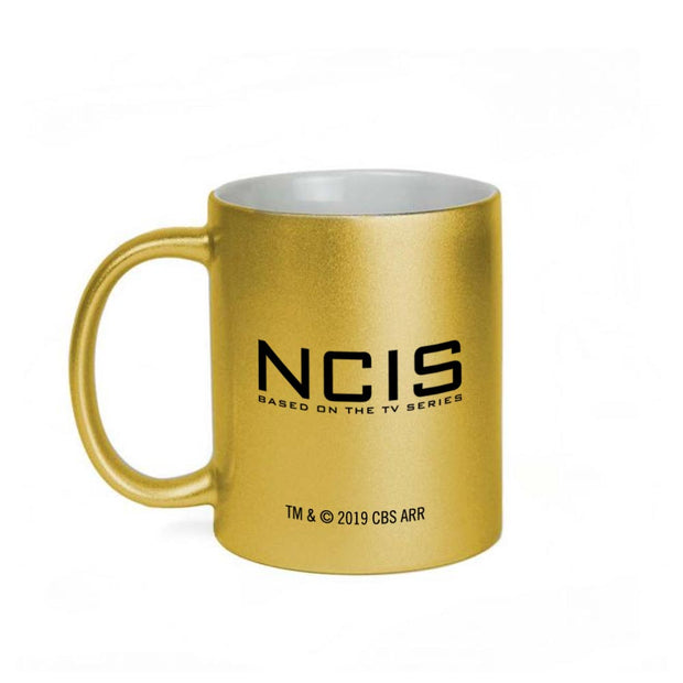 NCIS Special Agent Badge Wreath 11 oz Gold Metallic Mug | Official CBS Entertainment Store