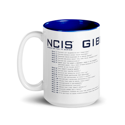 NCIS GIbbs Rules Two-Tone Mug | Official CBS Entertainment Store