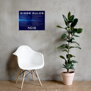 "NCIS Gibbs Rules Poster - 18"" x 24"" 