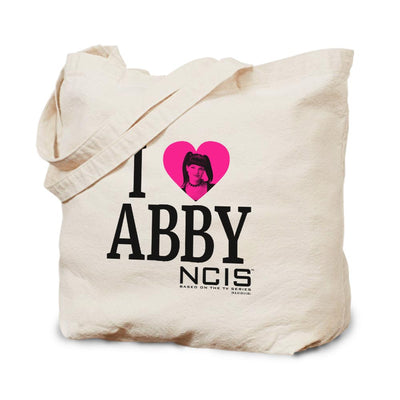 NCIS I heart Abby Canvas Tote Bag | Official CBS Entertainment Store