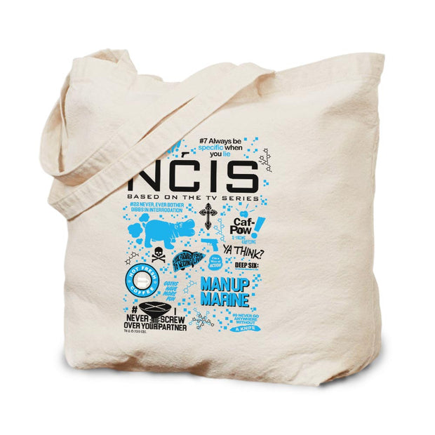 NCIS Mash Up Canvas Tote Bag