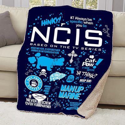 NCIS Mash Up Sherpa Blanket
