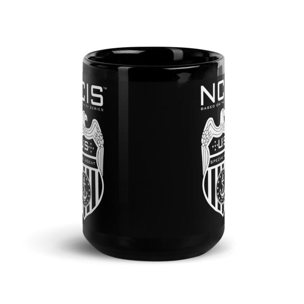 NCIS Special Agent Badge 15 oz Black Mug | Official CBS Entertainment Store
