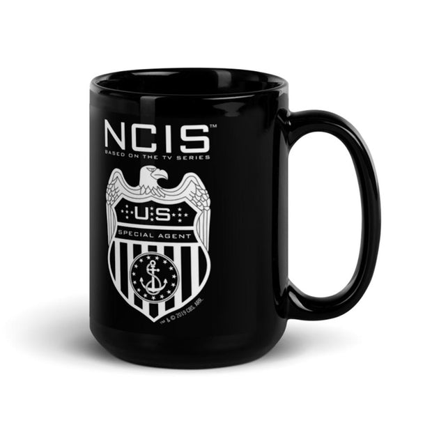 NCIS Special Agent Badge 15 oz Black Mug