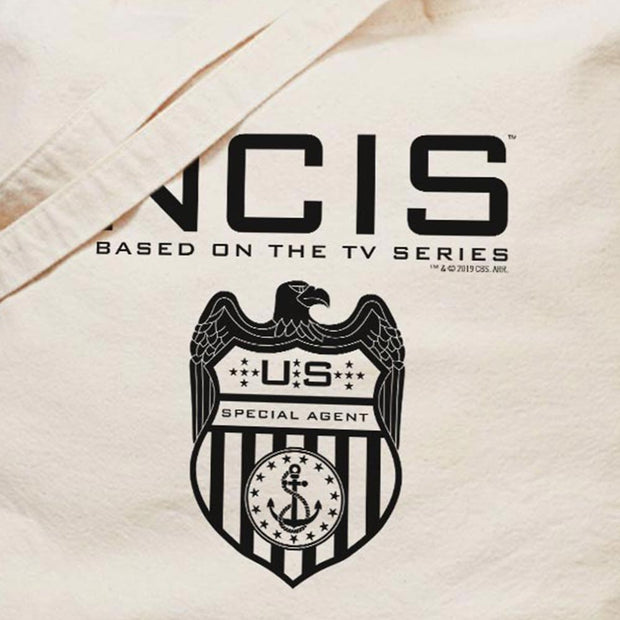NCIS Special Agent Badge Canvas Tote Bag | Official CBS Entertainment Store