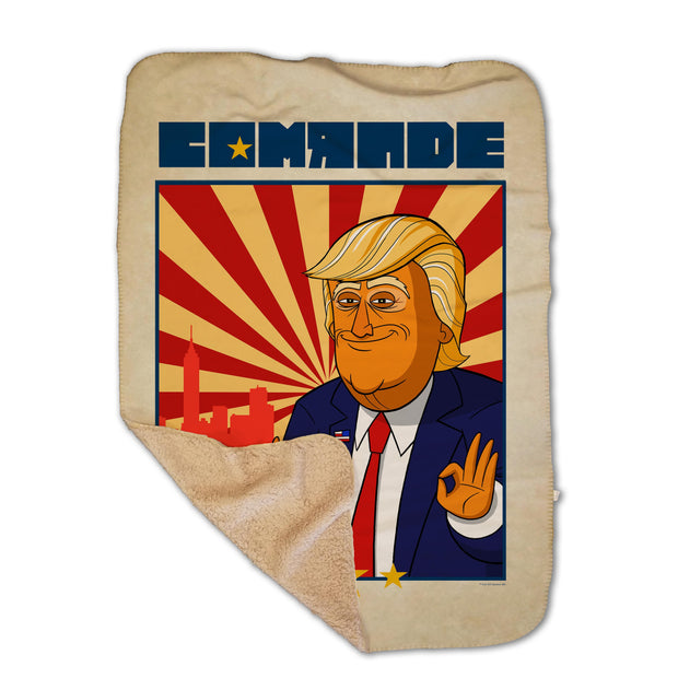 Our Cartoon President Comrade Sherpa Blanket | Official CBS Entertainment Store