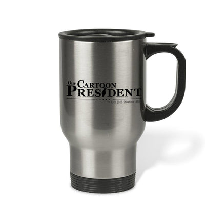 Our Cartoon President Logo Stainless Steel Travel Mug | Official CBS Entertainment Store