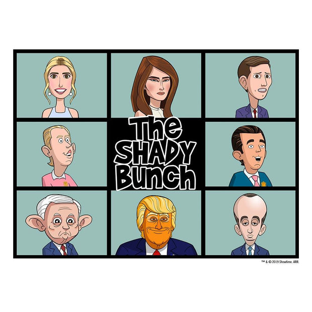 Our Cartoon President Shady Bunch Women's Relaxed Scoop Neck T-Shirt