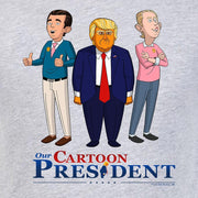 Our Cartoon President Trump and Sons Adult Short Sleeve T-Shirt