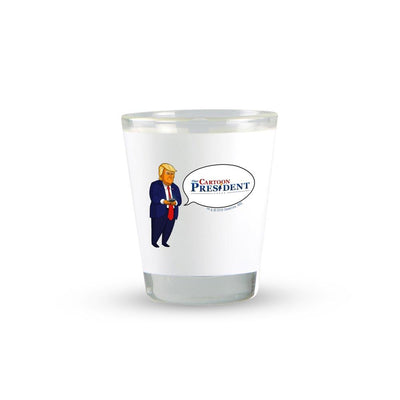 Our Cartoon President Tweet Shot Glass | Official CBS Entertainment Store
