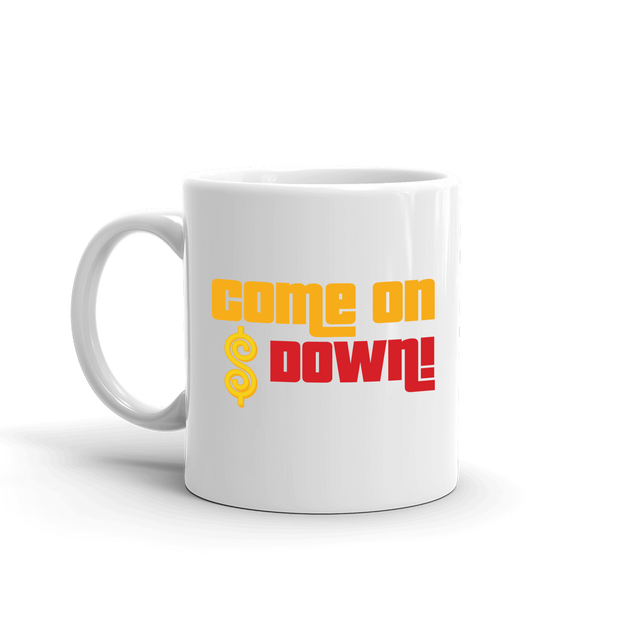 The Price is Right Come on Down White Mug