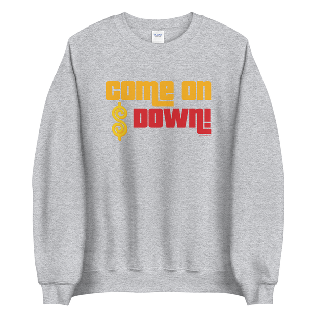 The Price is Right Come on Down Fleece Crewneck Sweatshirt