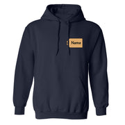 The Price is Right Personalized Name Tag Fleece Hooded Sweatshirt