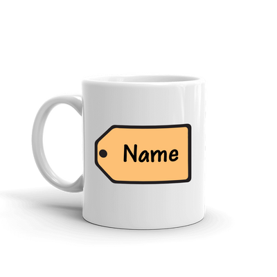 The Price is Right Personalized Name Tag White Mug