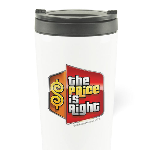 The Price is Right Logo 16 oz Stainless Steel Thermal Travel Mug | Official CBS Entertainment Store