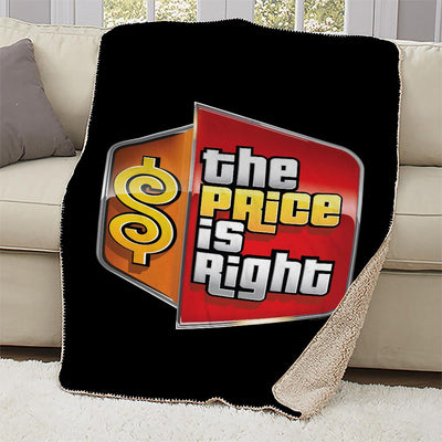 The Price is Right Logo Sherpa Blanket