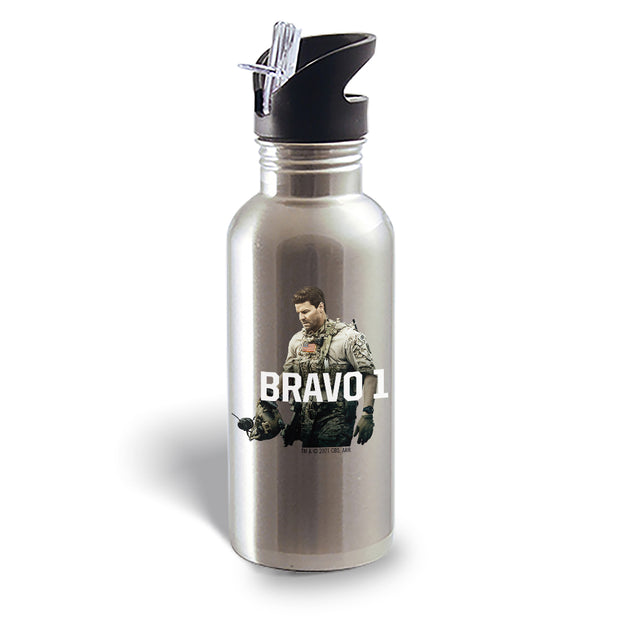 SEAL Team Bravo 1 20 oz Screw Top Water Bottle with Straw