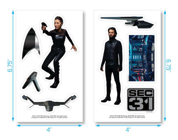 Star Trek: Discovery 3 Pack Sticker Bundle | Official CBS Entertainment Store