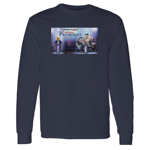 Our Cartoon President Who Will Be the Next Cartoon President? Adult Long Sleeve T-Shirt | Official CBS Entertainment Store