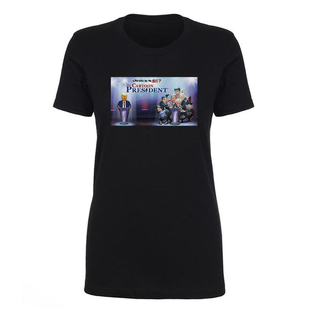Our Cartoon President Who Will Be the Next Cartoon President? Women's Short Sleeve T-Shirt | Official CBS Entertainment Store