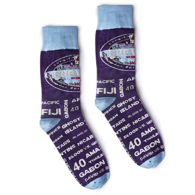 Survivor Season 40 Winners at War Logo Commemorative Socks | Official CBS Entertainment Store