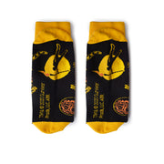 Survivor 20 Years 40 Seasons All Over Black and Yellow Tribal Pattern Socks | Official CBS Entertainment Store