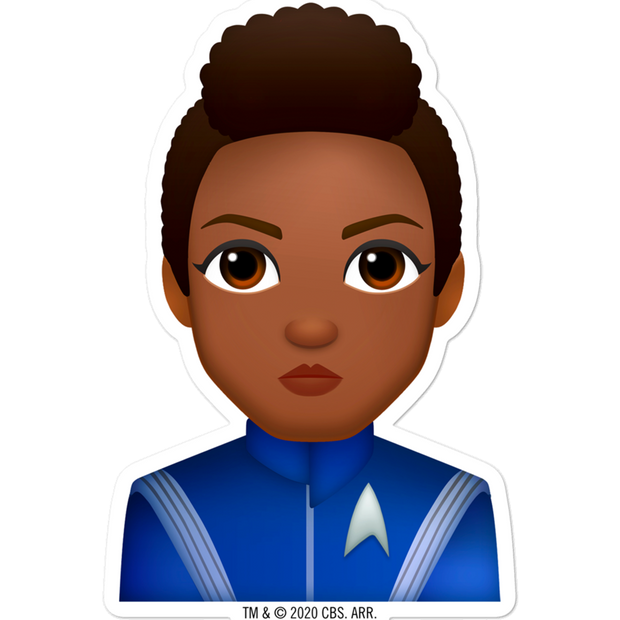 Star Trek: Discovery Burnham Emoji Die Cut Sticker | Official CBS Entertainment Store