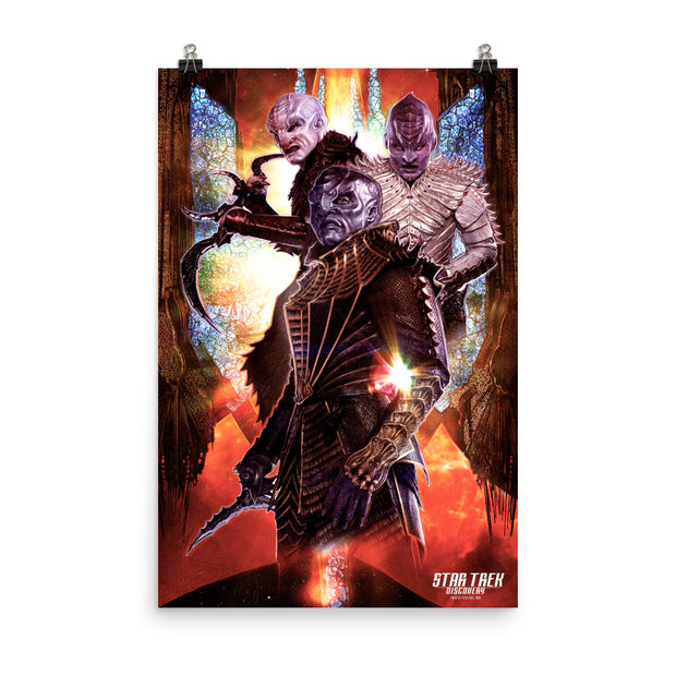 Star Trek: Discovery Klingon Collage Premium Satin Poster