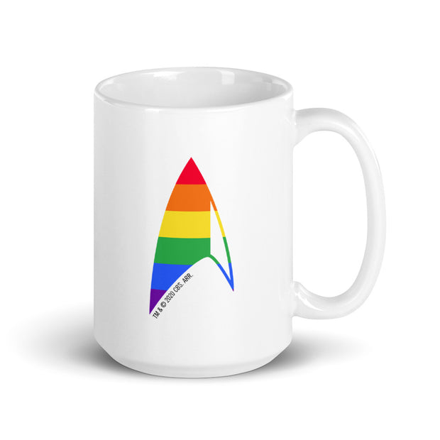 Star Trek: Discovery Pride Delta Personalized White Mug | Official CBS Entertainment Store