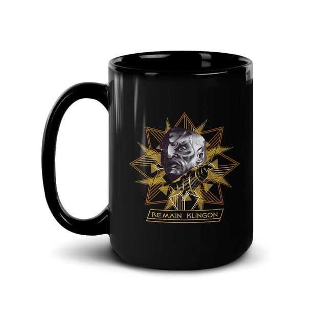 Star Trek: Discovery Remain Klingon Black Mug | Official CBS Entertainment Store
