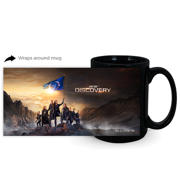 Star Trek: Discovery Season 3 Keyart Black Mug | Official CBS Entertainment Store