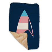 Star Trek: Discovery GLAAD Delta Sherpa Blanket | Official CBS Entertainment Store